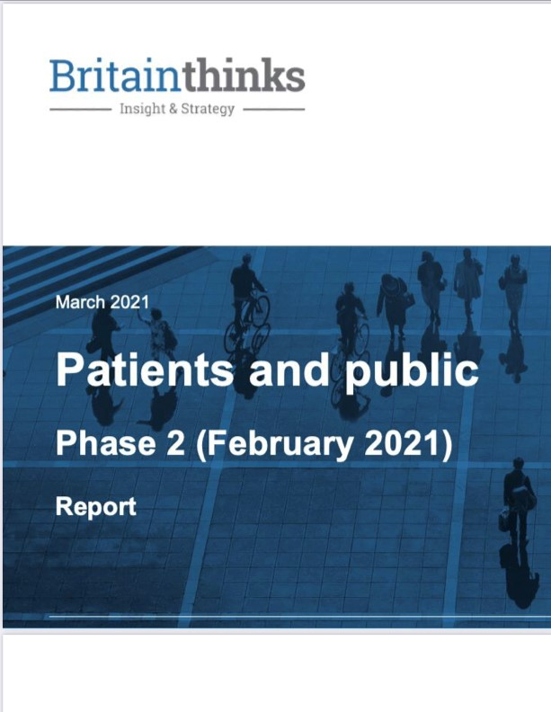 Cover of Brttain Thinks report