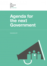 Richmond Group Agenda for the next government cover